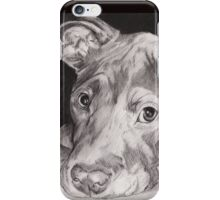"""Thai"" the Red-nose American Pitbull Terrier iPhone Case/Skin"
