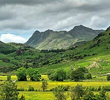 The Langdale Pikes by Jamie  Green