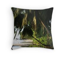 Seychelles Beach  Throw Pillow