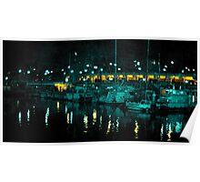 Redondo Beach Harbor at Night 0907 Poster