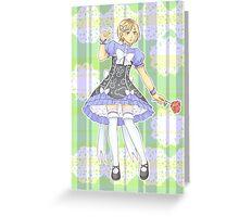 Kenma Kozume in Wonderland Greeting Card