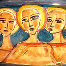 A new  Plate with faces by catherine walker