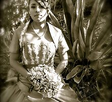Quince girl in the Agave by chrissylong