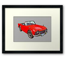 Red Triumph Tr4 Convertible Sports Car Framed Print