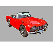 Red Triumph Tr4 Convertible Sports Car Photographic Print