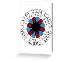 Carpe Diem Slogan Greeting Card