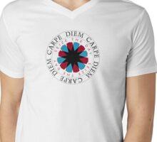 Carpe Diem Slogan Mens V-Neck T-Shirt