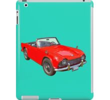 Red Triumph Tr4 Convertible Sports Car iPad Case/Skin