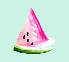 Watercolour Watermelon by jana95s