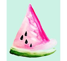 Watercolour Watermelon Photographic Print
