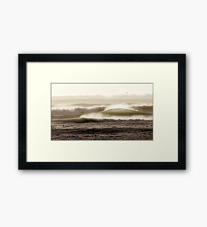 Marching Waves Framed Print