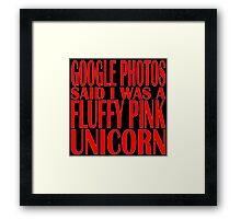 Google photos said Framed Print