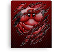 Red Ninja torn tee tshirt pencils color art Canvas Print
