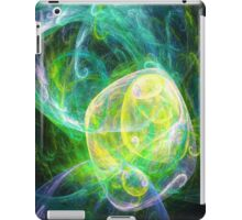 Alien Turquoise Yellow Teal Green iPad Case/Skin