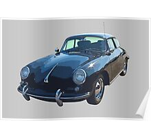 Black 1962  Porsche 356 E Poster