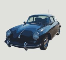 Black 1962  Porsche 356 E by KWJphotoart