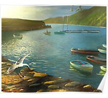Clovelly - An English Fishing Village Poster