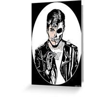 Alex Turner Skull Art Greeting Card