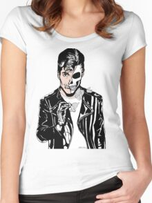 Alex Turner Skull Art Women's Fitted Scoop T-Shirt
