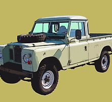 1971 Land Rover Pick up Truck by KWJphotoart