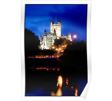 Bath Cathedral by the River Avon at Night Poster