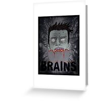 ZomBrains  Greeting Card