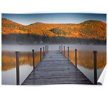 Autumn Morning at Lake Morey, Vermont Poster