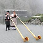 Alphorn Player, Pilatus Switzerland by Martin Gyger