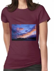 Evening Clouds Womens Fitted T-Shirt