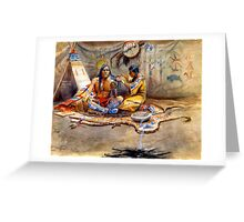 Indian beauty parlor Greeting Card