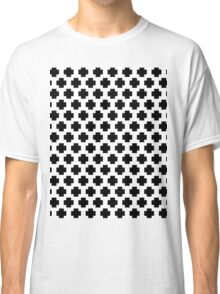 Black and White Simple Cross  Classic T-Shirt