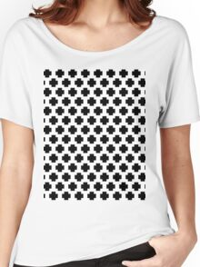 Black and White Simple Cross  Women's Relaxed Fit T-Shirt