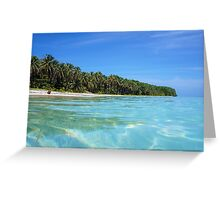 Caribbean island shore with turquoise water Greeting Card