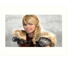 Astrid How to Train Your Dragon Art Print