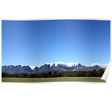 Somerset West mountains Poster