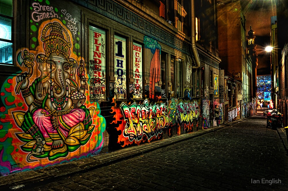 Hosier Lane Melbourne by Ian English