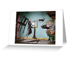 Dali Atomicus - by Philippe Halsman - colored Greeting Card