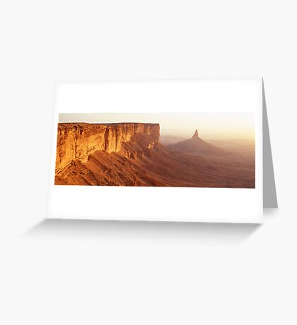 Sunset at Faisal's Finger Greeting Card
