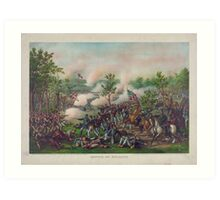 Civil War Battle of Atlanta by Kurz and Allison July 22, 1864 Art Print