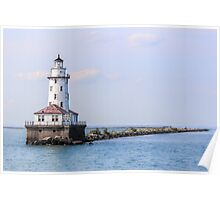 Light House reaching Waters Poster