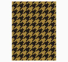 Black and Gold Houndstooth One Piece - Short Sleeve
