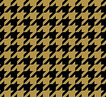 Black and Gold Houndstooth by MyArt23