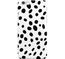 Black and White Polkadot iPhone Case/Skin