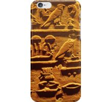 Egyptian hieroglyphs from Karnak temple in Luxor iPhone Case/Skin