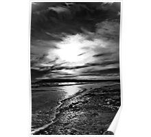 Shankin Beach Isle Of Wight! B/W Poster