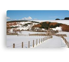 Cranshaw's Kirk in the snow Canvas Print