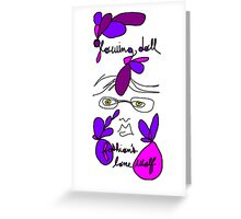 Glowing Doll Blog Artwork Greeting Card