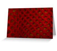 Pretty Crochet Red Greeting Card
