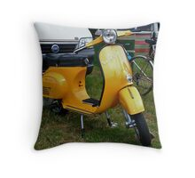 Vespa at the Padstow Show Throw Pillow
