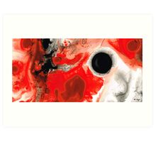 Pure Passion - Red And Black Art Painting Art Print